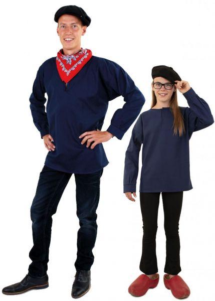 Blauwe boerenkiel voor kinderen en volwassenen