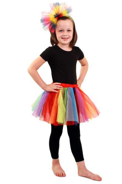 Tule kleedje regenboog meisjes