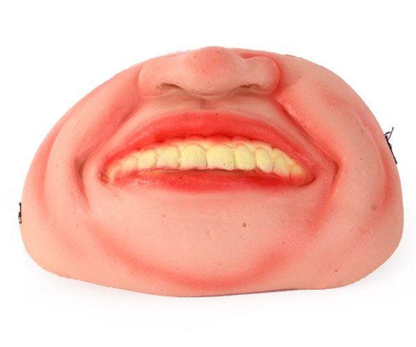 Half masker scheve tanden