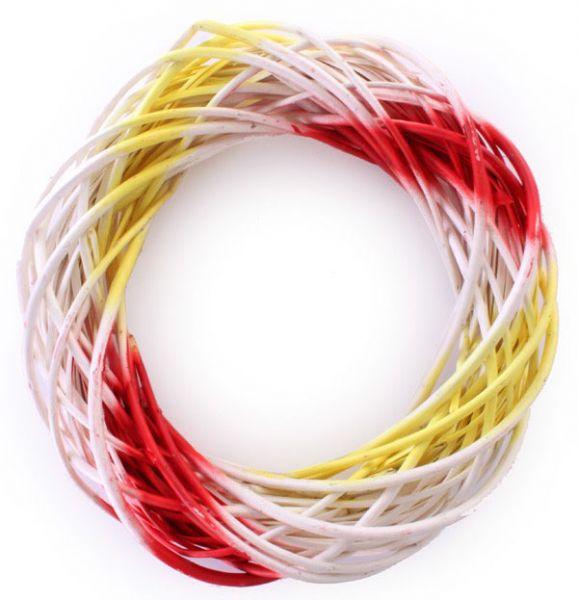Deurkrans rood wit geel 39cm doorsnee