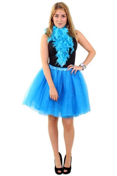 Tule rock & roll kleedje blauw