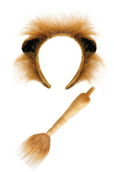 Leeuw haarbeugel met staart