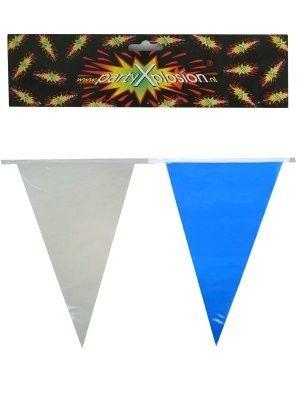 Vlaggenlijn blauw wit