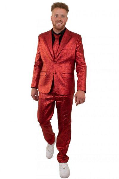 Rood blits discokostuum metallic