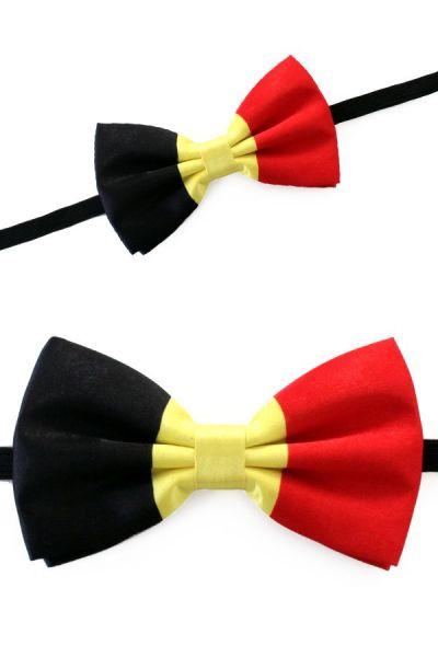 Vlinderstrik satijn vlag Belgie