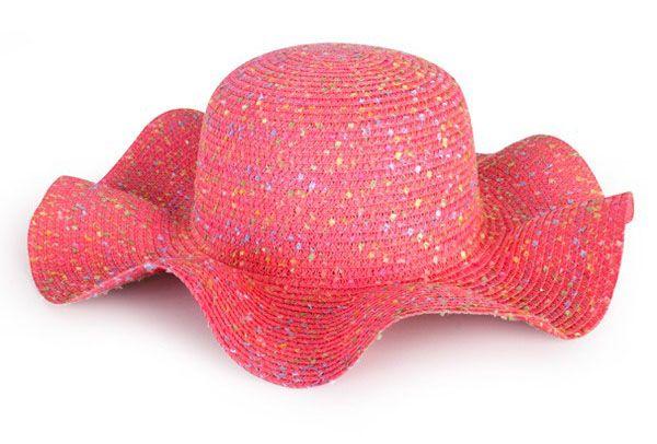 Strandhoed roze dame