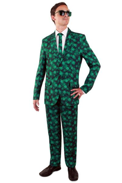 Kostuum Wiet blad Suit Cannabusiness