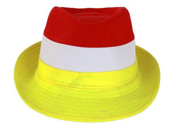 Hoedje rood wit geel