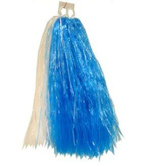 Cheerball ringgreep blauw wit pompoenen