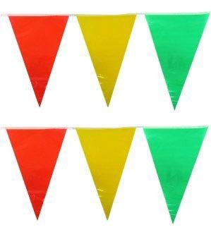 Vlaggenlijn rood geel groen Carnaval