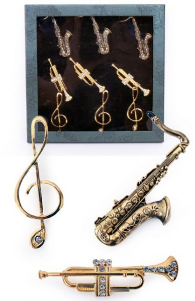 9 Broches Muziekinstrumenten