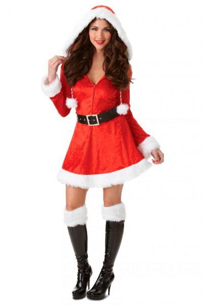 Sexy Kerstkleedje met rode capuchon