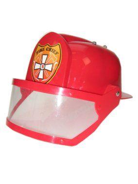 Brandweerhelm rood met vizier