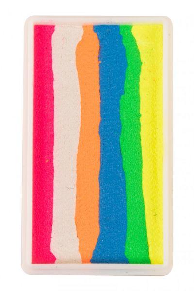 PartyXplosion splitcake Neon roze wit oranje blauw geel