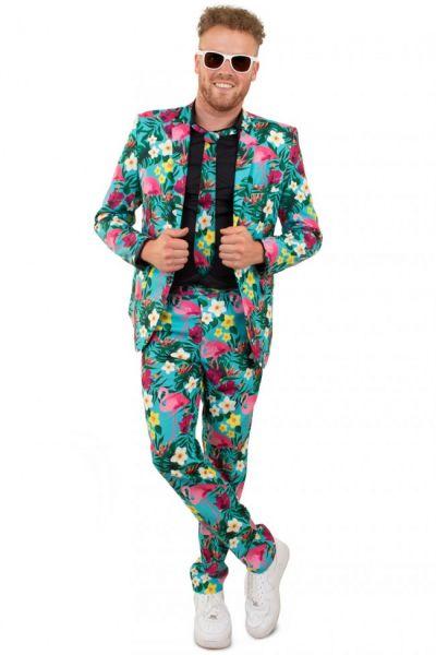 Fleurig Hawaii kostuum 3-delig