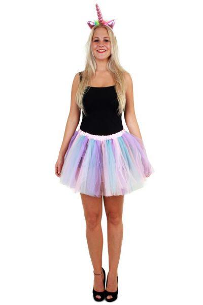 Tule kleedje pastel unicorn dames