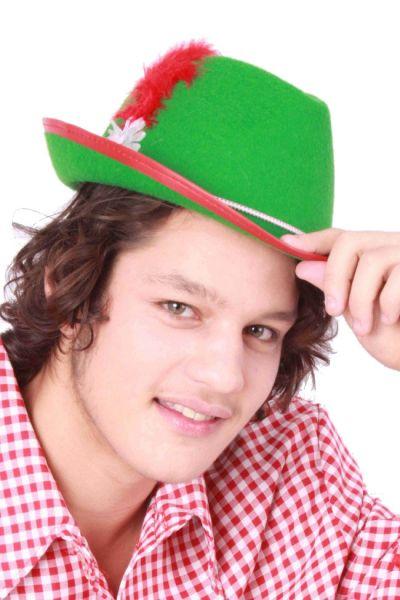 Oktoberfest Tiroler hoed groen Bierfeest