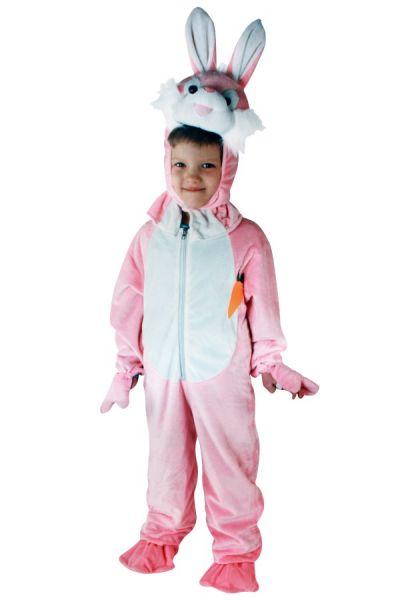 Roze konijn kostuum pluche kinderen